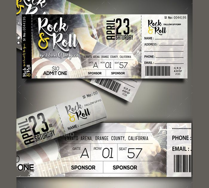 17+ Event Ticket Templates | Design Trends - Premium PSD, Vector ...