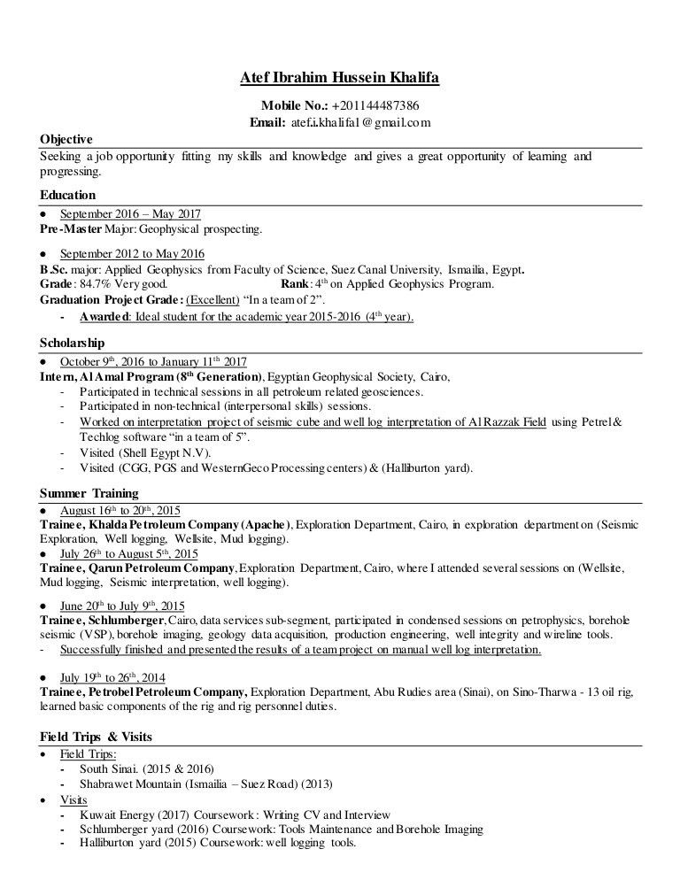 Download Schluberger Field Engineer Sample Resume ...
