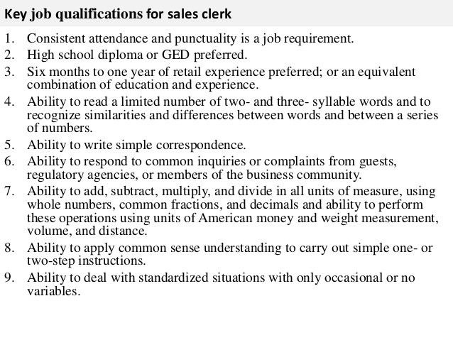 top notch job content. sales clerk resume best resume sample ...
