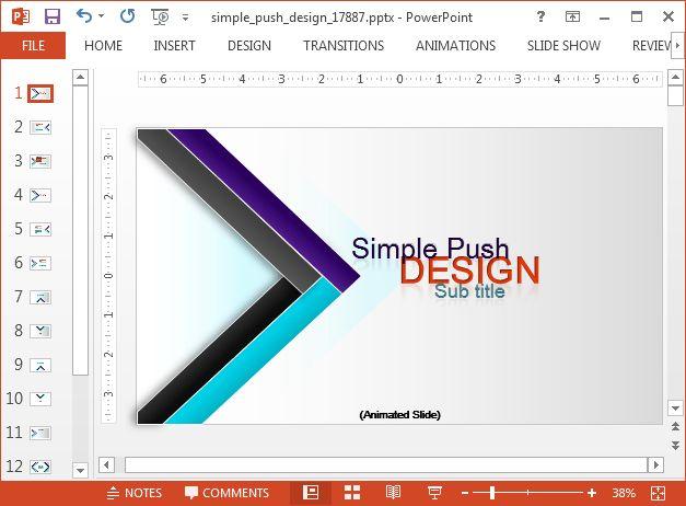 Animated Modern Design PowerPoint Template - SlideHunter.com