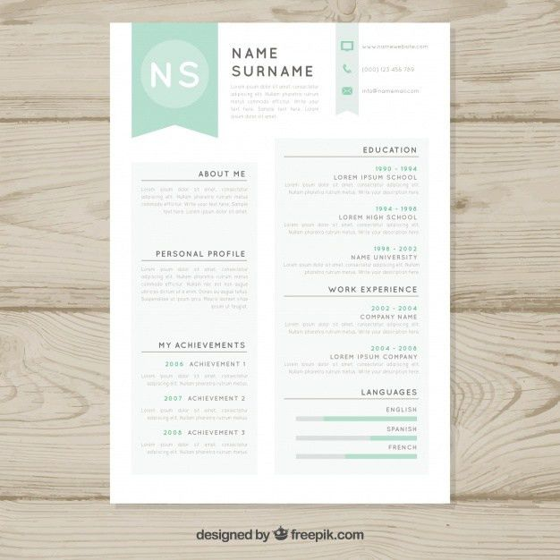 Resume Vectors, Photos and PSD files   Free Download