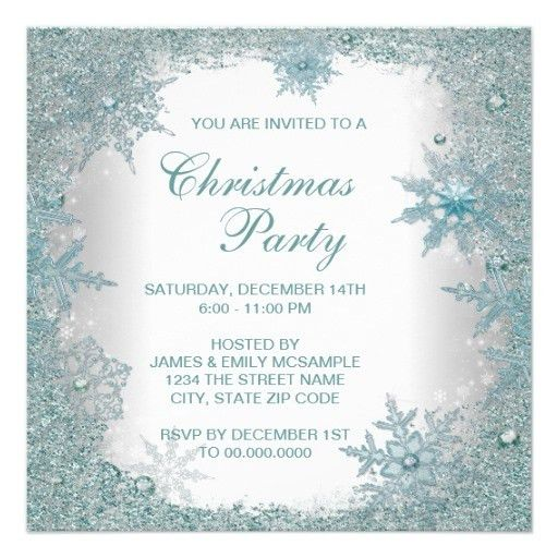 Fine Free Elegant Christmas Party Invitation Templates According ...