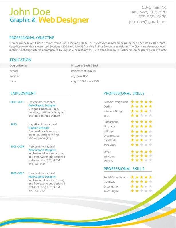 cover letter unique resume formats creative web html template ...