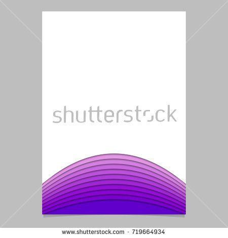 Abstract Page Template Layer Stripes Purple Stock Vector 731424736 ...