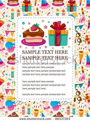 Blank Birthday Card Stock Images, Royalty-Free Images & Vectors ...