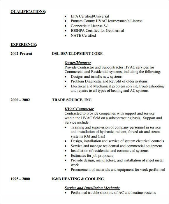 entry level hvac resume template sample hvac resume. resume ...