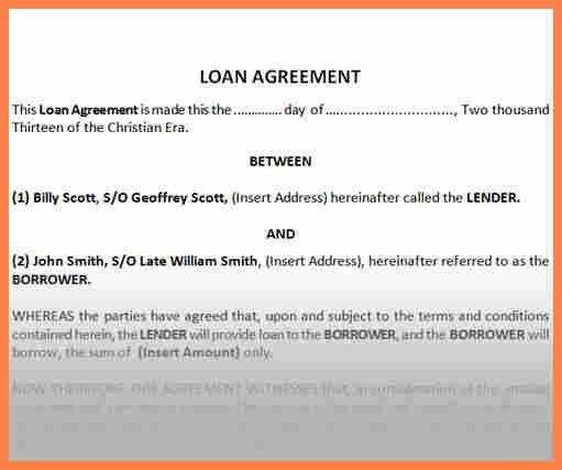 5+ sample of loan agreement between two parties | Purchase ...
