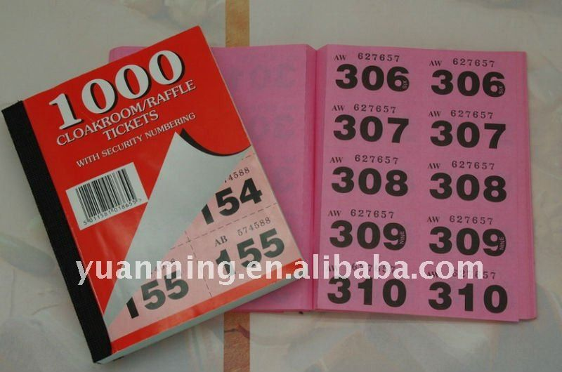 Raffle Ticket Book - Buy Raffle Ticket,Raffle Ticket Printing ...