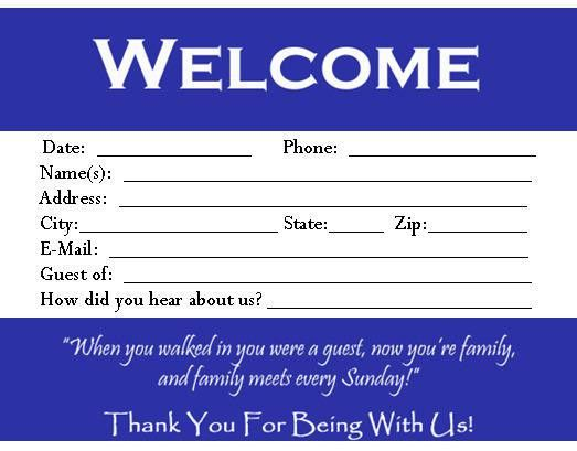 Visitor Card Template you can customize