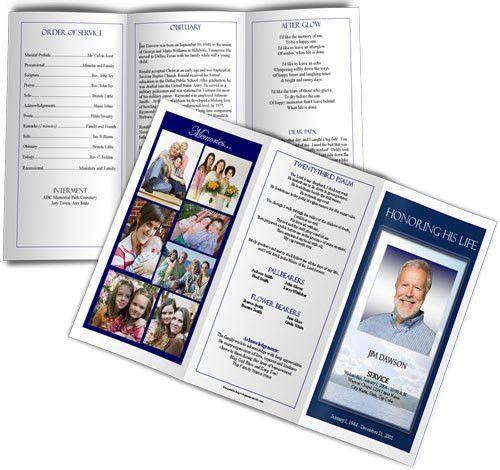 plain funeral program template
