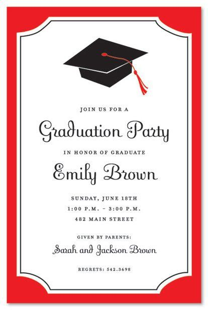 Sample Graduation Party Invitation Templates Sample Invitations ...
