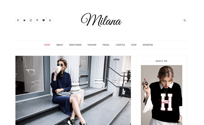 Milana Responsive Fashion Blogger Template