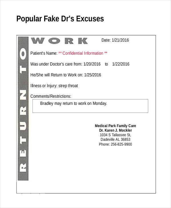 14+ Doctor Note Templates | Free & Premium Templates