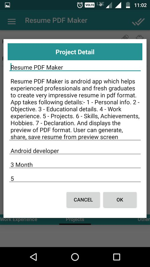 Resume PDF Maker / CV Builder - Android Apps on Google Play