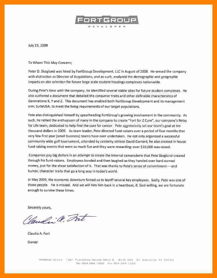 employer referral letter