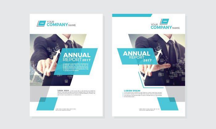 Free Annual Report Cover Design Templates | Dribbble Graphics