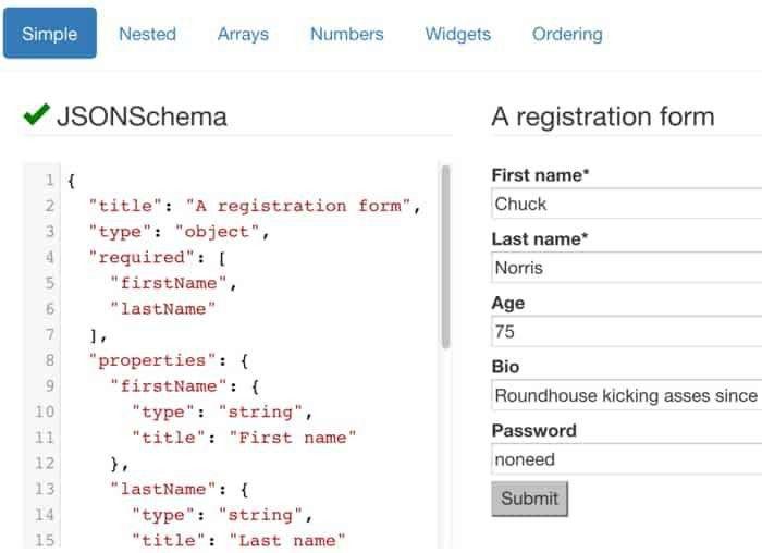 react-jsonschema-form - ReactJS Example