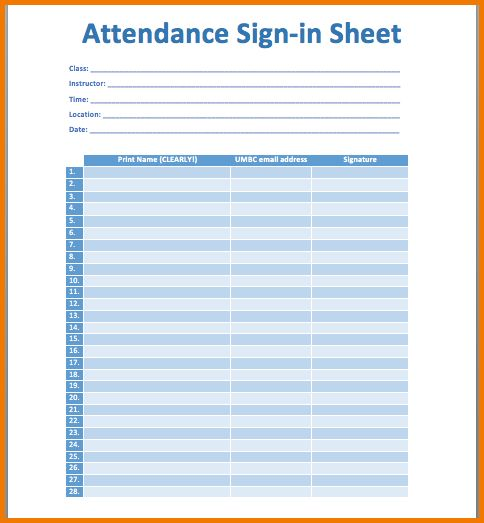 5+ attendance sheet | Expense Report