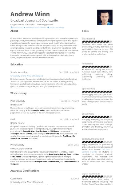 University Resume samples - VisualCV resume samples database