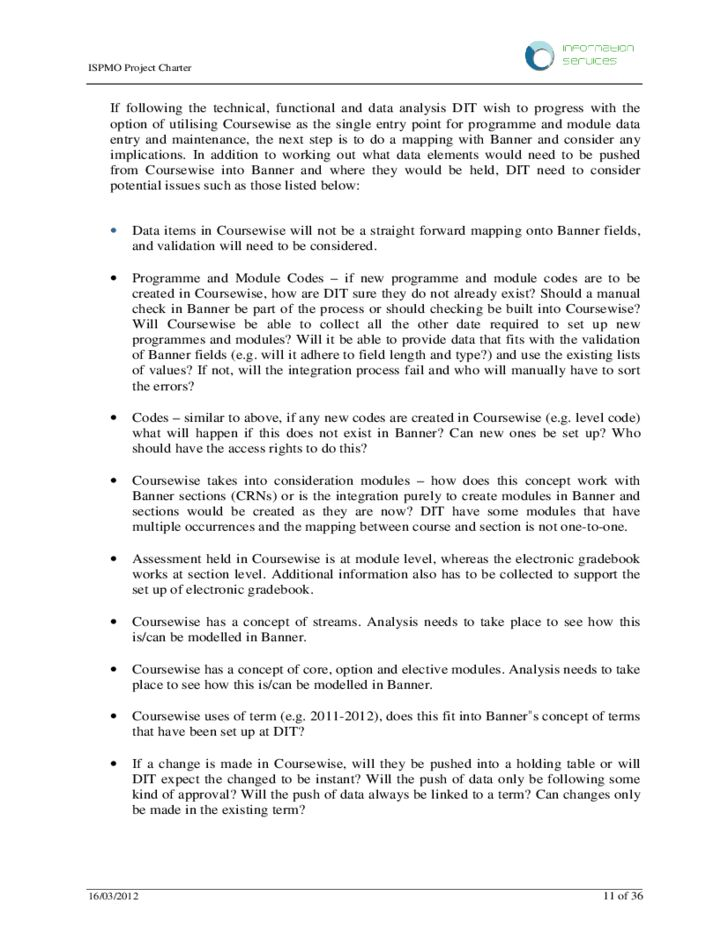 Project Charter and Scope Statement Example Free Download