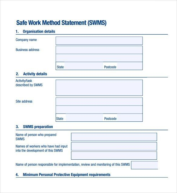 Safety Statement Template. 13 Health And Safety Plan Generic Coles ...