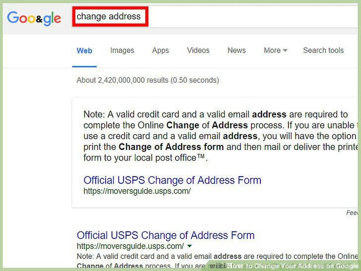 3 Ways to Change Your Address on Google - wikiHow