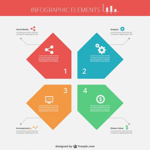 Flat infographic template Vector | Free Download