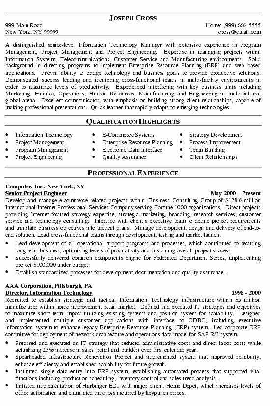 resume example it security careerperfectcom. information ...