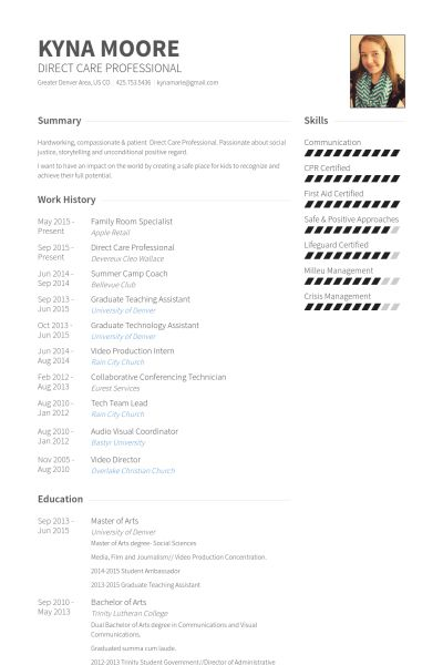 Teaching Assistant Resume samples - VisualCV resume samples database