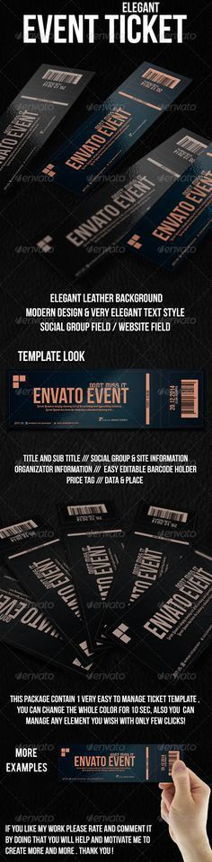Check out Elegant event ticket 01 by Quality prints & graphics on ...