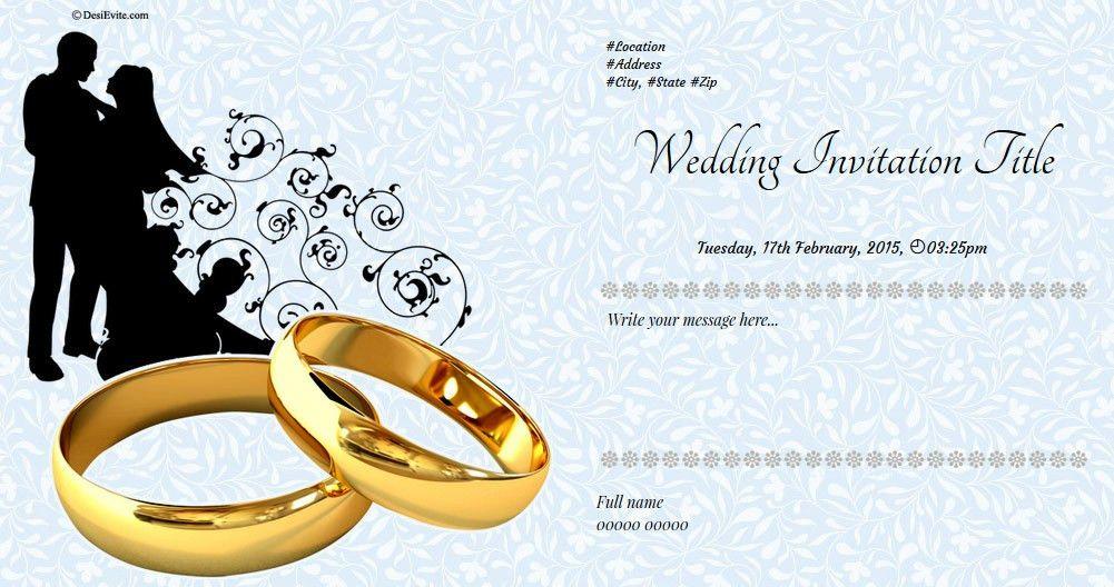 Free Wedding Invitation Card & Online Invitations