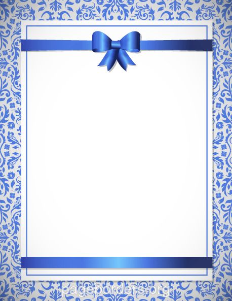 Printable blue wedding border. Use the border in Microsoft Word or ...