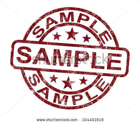 Sample Stamp Showing Example Symbol Taste Stock Illustration ...