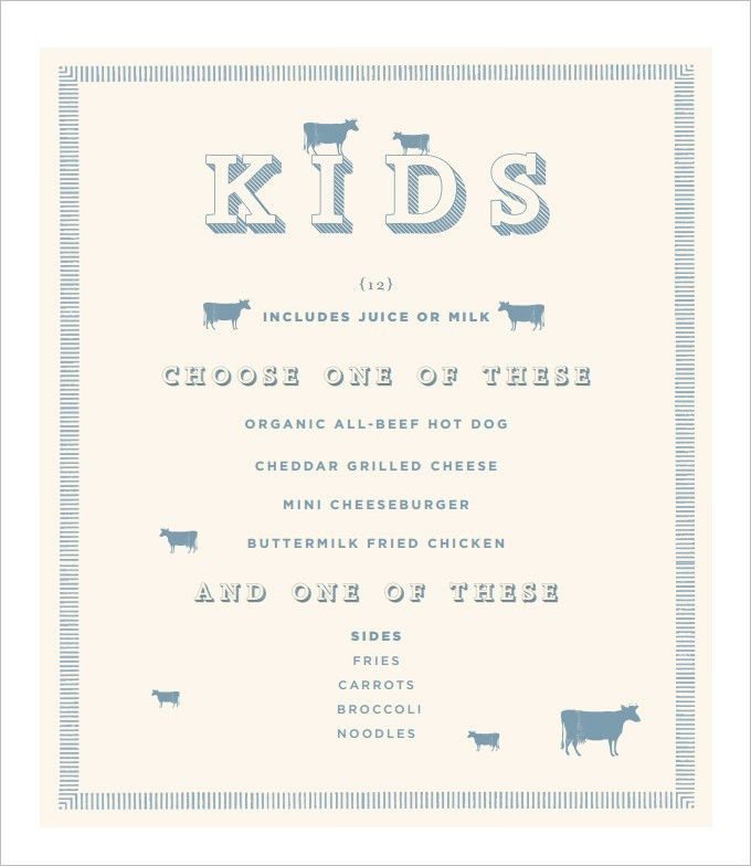 Kids Menu Template – 25+ Free PSD, EPS Documents Download! | Free ...
