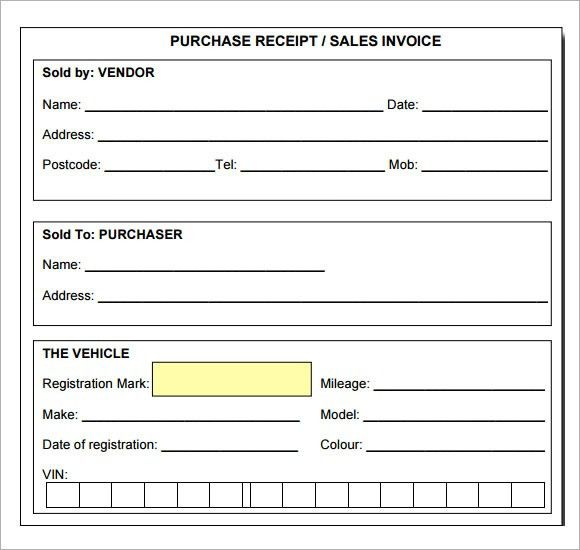 Sample Itemized Receipt Template - 9+ Download Free Documents in PDF