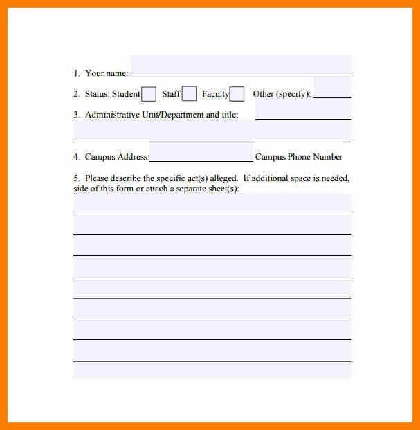 Hr Complaint Form. Hr Employee Complaint/Concern Form Hr Forms In ...