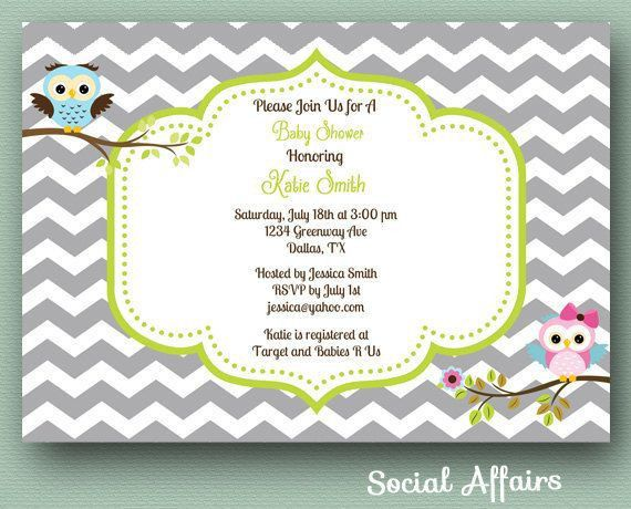 Baby Shower Invitations: Free Printable Owl Baby Shower ...