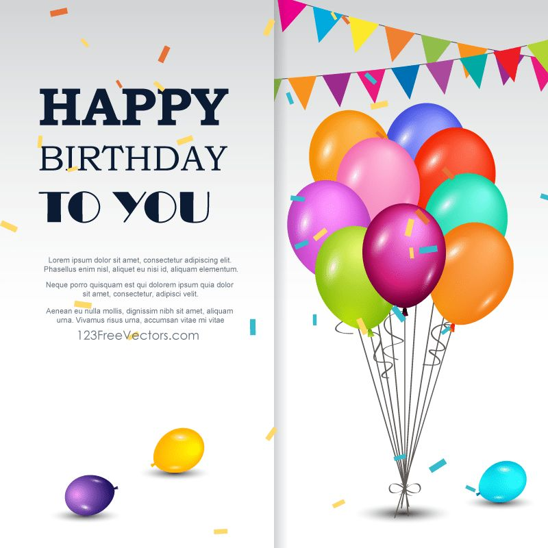80+ Birthday Invitation Template Vectors | Download Free Vector ...