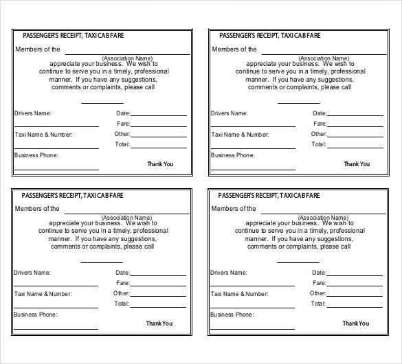 Sample of Taxi Invoice Excel Templates - Invoice Software and Template