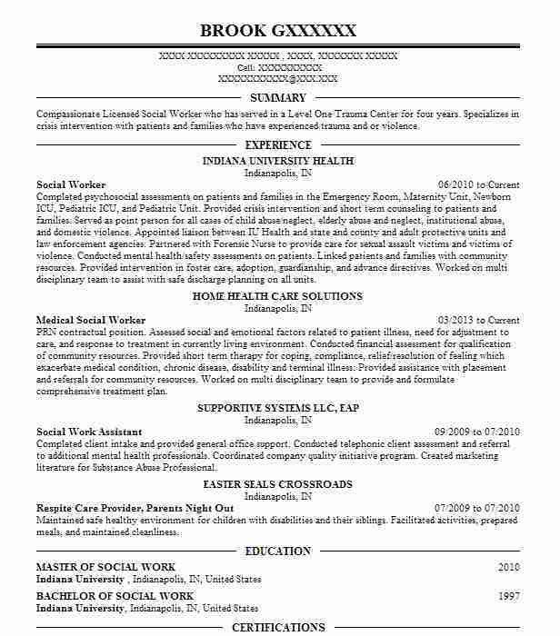 social worker resume social work resume sample writing guide