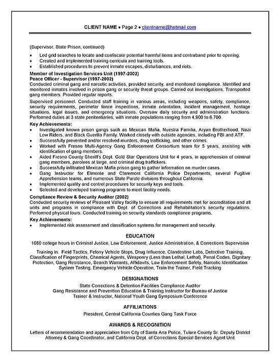 Officer Resume Example