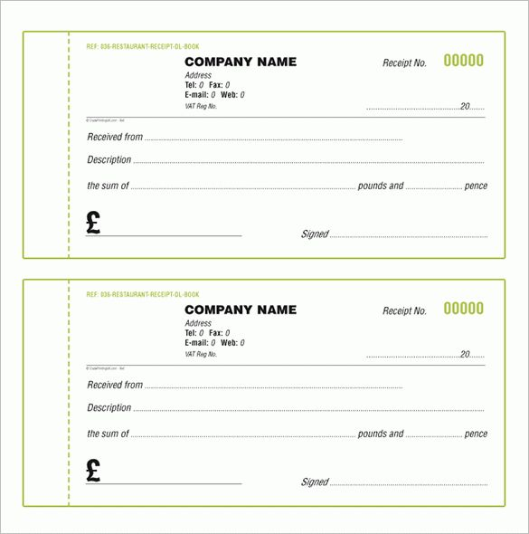 Receipt Book Template – 6+ Free Word, Excel, PDF Format Download ...