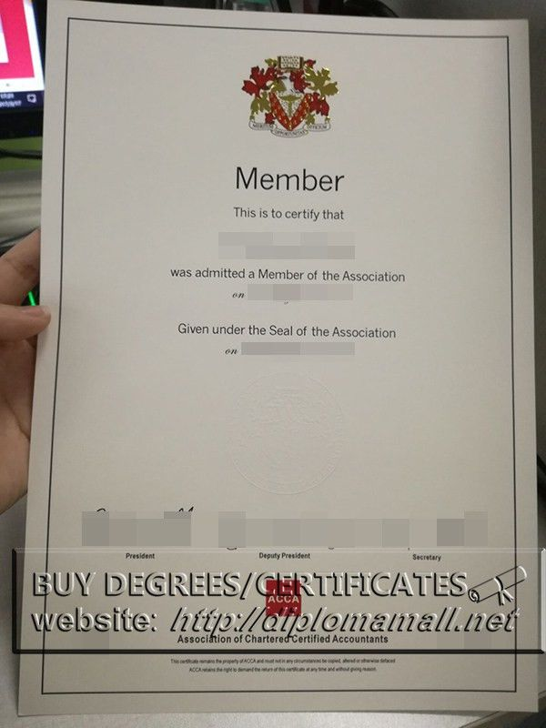 buy ACCA certificate(Embossed White Seal), Fake ACCA cert_buy ...