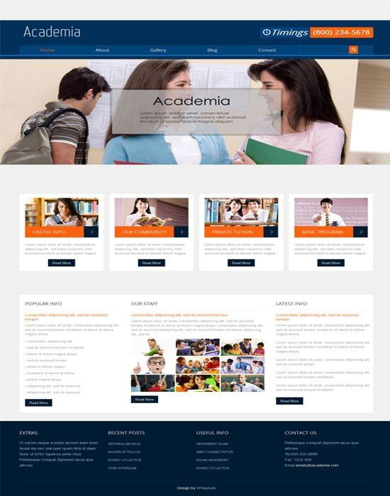 66+ Fantastic Education Website Templates Free Premium