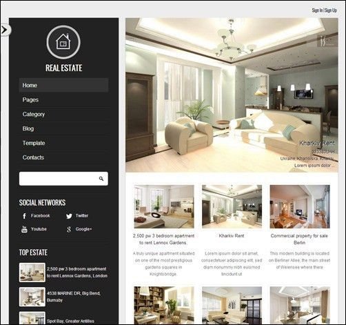 20+ Top Real Estate Website Templates - Make A Difference -