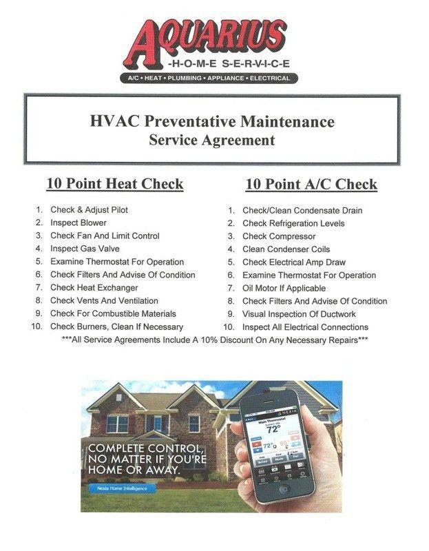 Maintenance - Aquarius Home Service