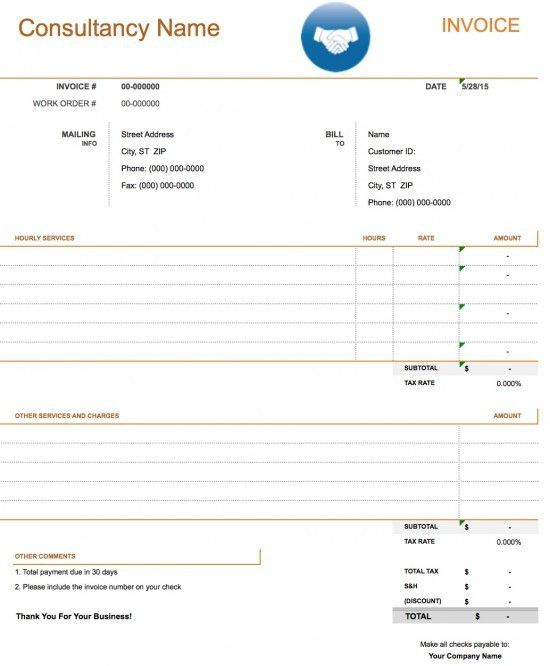 Free Consulting Invoice Template | Excel | PDF | Word (.doc)