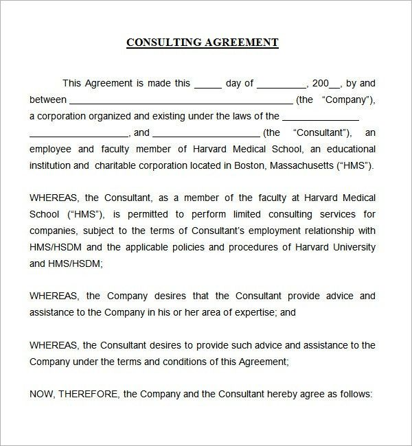 High Quality Simple Contract Template