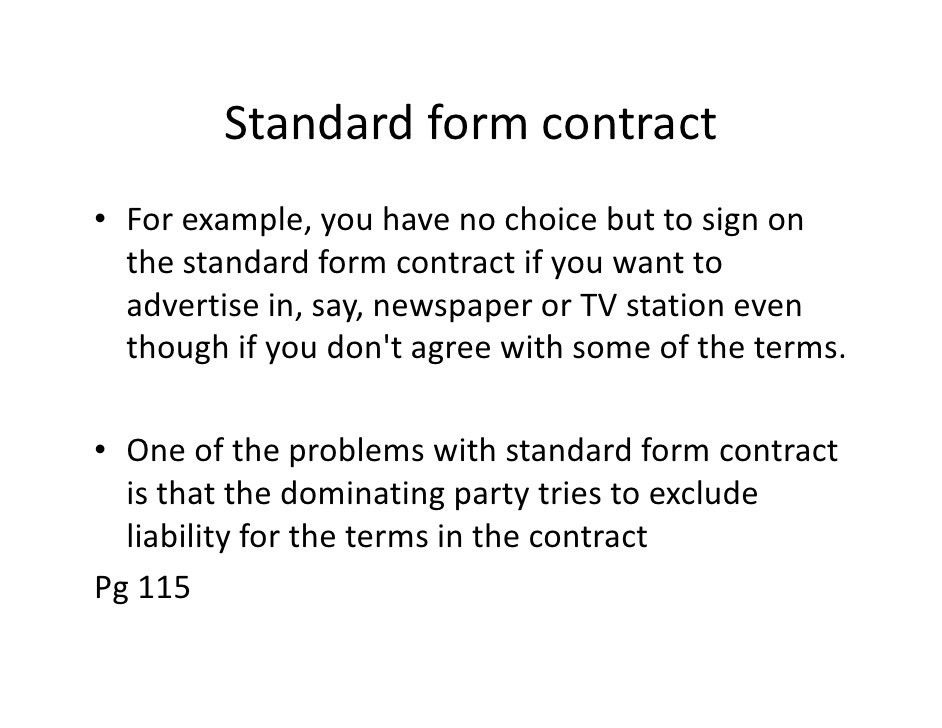 0105terms And Standard Form Contract