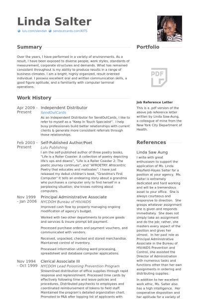 Distributor Resume samples - VisualCV resume samples database
